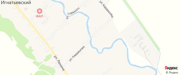 Улица Кардашова на карте Игнатьевского хутора Адыгеи с номерами домов
