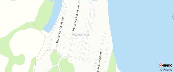 Расчалка 3 Линия на карте Архангельска с номерами домов