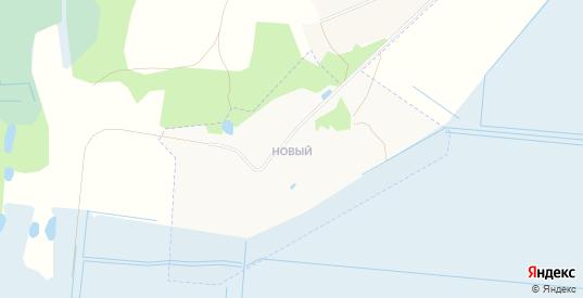 Карта поселка Новый в Гусе-Хрустальном с улицами, домами и почтовыми отделениями со спутника онлайн
