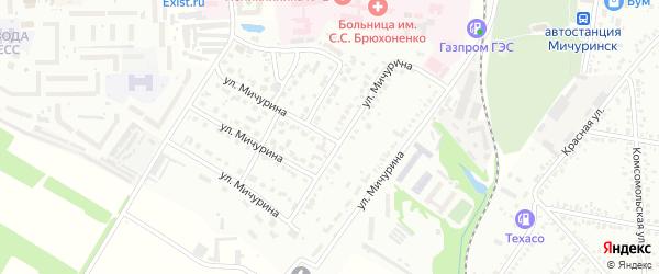 Улица Мичурина на карте Мичуринска с номерами домов