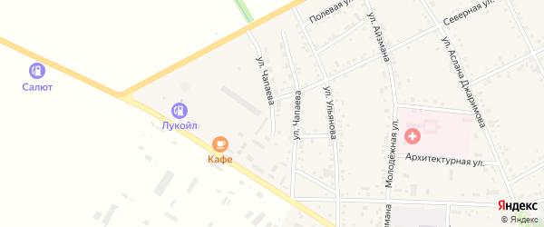 Улица Чапаева на карте аула Кошехабль Адыгеи с номерами домов