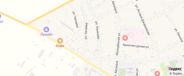 Крупский переулок на карте аула Кошехабль Адыгеи с номерами домов