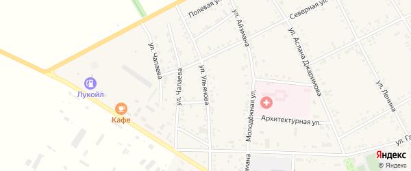 Улица Ульянова на карте аула Кошехабль Адыгеи с номерами домов