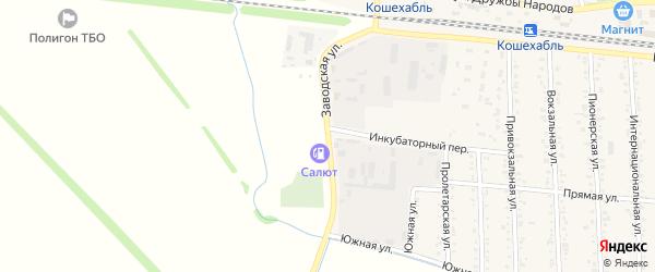 Заводская улица на карте аула Кошехабль Адыгеи с номерами домов