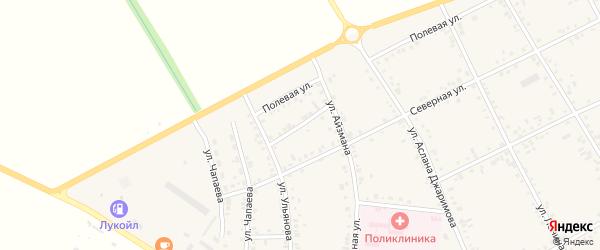 Короткий переулок на карте аула Кошехабль Адыгеи с номерами домов