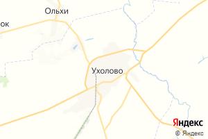 Карта пгт Ухолово Рязанская область