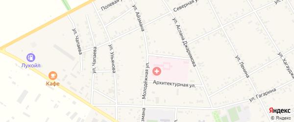 Улица им И.С.Айзмана на карте аула Кошехабль Адыгеи с номерами домов