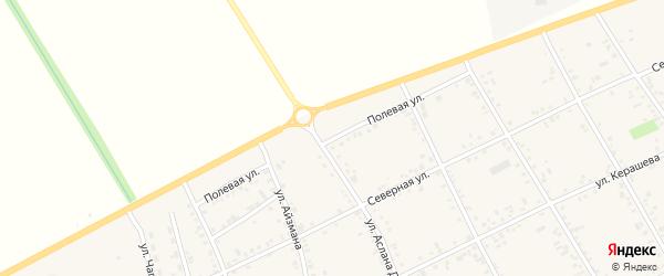 Полевая улица на карте аула Кошехабль Адыгеи с номерами домов