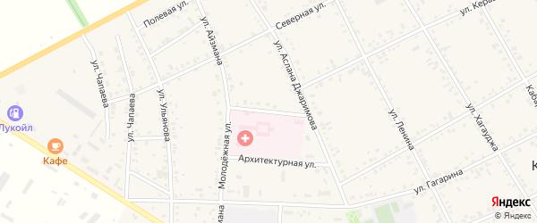 Больничный переулок на карте аула Кошехабль Адыгеи с номерами домов