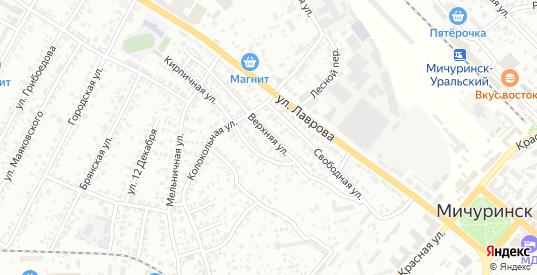 Верхняя улица в Мичуринске с номерами домов на карте. Спутник и схема онлайн