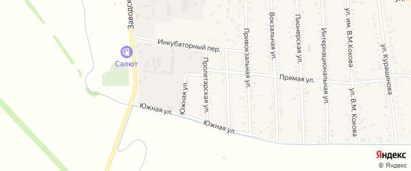 Пролетарская улица на карте аула Кошехабль Адыгеи с номерами домов