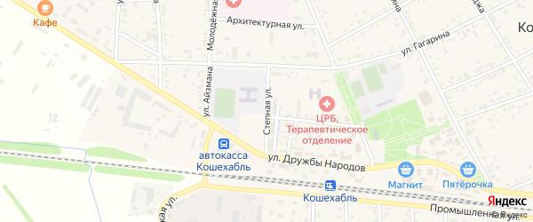 Степная улица на карте аула Кошехабль Адыгеи с номерами домов