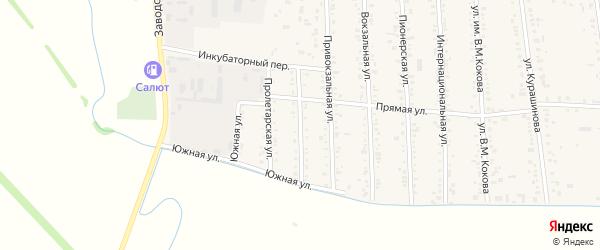 Коммунистическая улица на карте аула Кошехабль Адыгеи с номерами домов