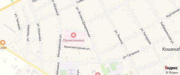 Улица Джаримова А. на карте аула Кошехабль Адыгеи с номерами домов