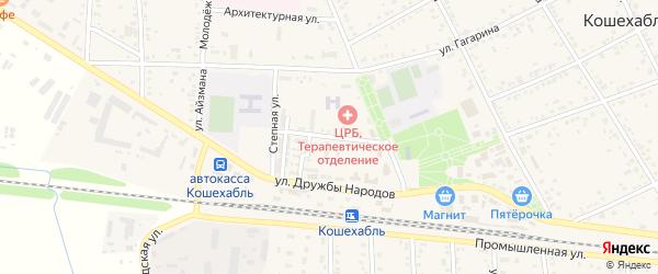 Спортивная улица на карте аула Кошехабль Адыгеи с номерами домов