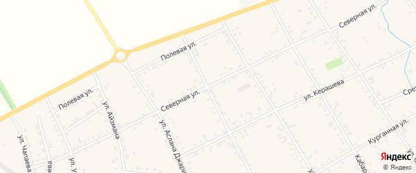 Северная улица на карте аула Кошехабль Адыгеи с номерами домов
