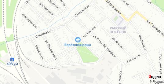 Коммунальная улица в Мичуринске с номерами домов на карте. Спутник и схема онлайн