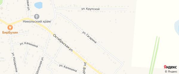 Улица Гагарина на карте поселка Добринки Липецкой области с номерами домов
