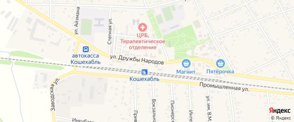Улица Дружбы Народов на карте аула Кошехабль Адыгеи с номерами домов