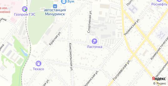Садовая улица в Мичуринске с номерами домов на карте. Спутник и схема онлайн