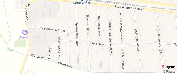 Вокзальная улица на карте аула Кошехабль Адыгеи с номерами домов