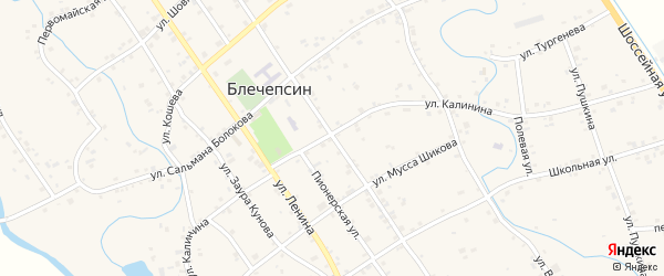 Улица К.Маркса на карте аула Блечепсин Адыгеи с номерами домов