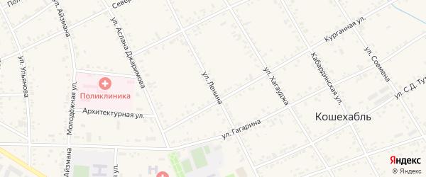 Улица Ленина на карте аула Кошехабль Адыгеи с номерами домов