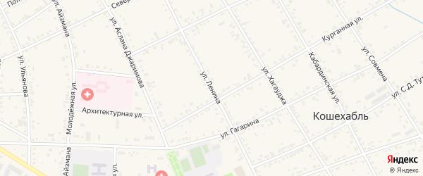 Улица Ленина на карте аула Кошехабль с номерами домов