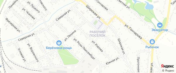 Улица Кирова на карте Мичуринска с номерами домов