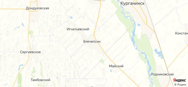 Блечепсин на карте