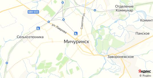 Карта Мичуринска с улицами и домами подробная. Показать со спутника номера домов онлайн