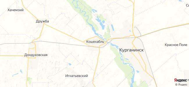Кошехабль на карте