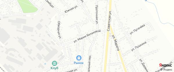Улица Белаховой на карте Мичуринска с номерами домов