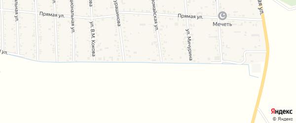 Южная улица на карте аула Кошехабль Адыгеи с номерами домов
