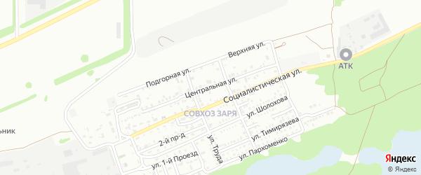 Центральная улица на карте Кропоткина с номерами домов