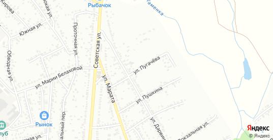 Улица Пугачева в Мичуринске с номерами домов на карте. Спутник и схема онлайн