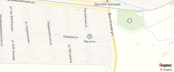 Теучежская улица на карте аула Кошехабль с номерами домов