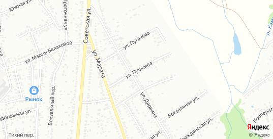 Улица Пушкина в Мичуринске с номерами домов на карте. Спутник и схема онлайн
