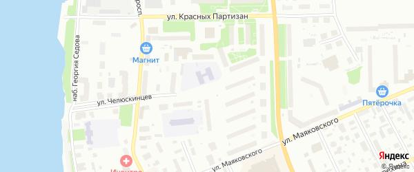 Улица Челюскинцев на карте Архангельска с номерами домов