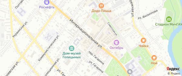 Интернациональная улица на карте Мичуринска с номерами домов
