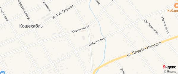 Улица Дзегаштова на карте аула Кошехабль с номерами домов