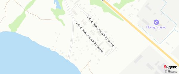 Сибирская 2-й проезд на карте Архангельска с номерами домов