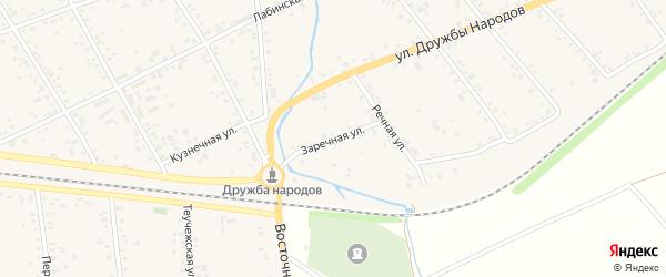 Заречная улица на карте аула Кошехабль Адыгеи с номерами домов