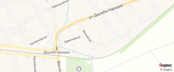 Речная улица на карте аула Кошехабль Адыгеи с номерами домов