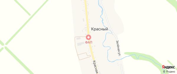 Красная улица на карте Красного хутора Адыгеи с номерами домов