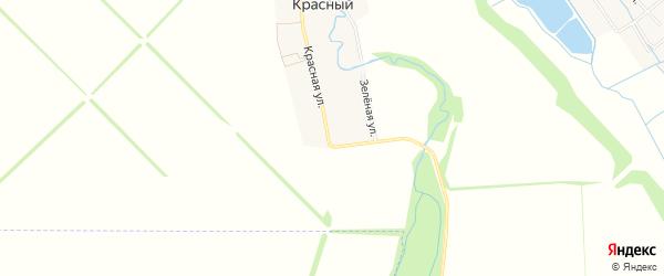 Карта Красного хутора в Адыгее с улицами и номерами домов