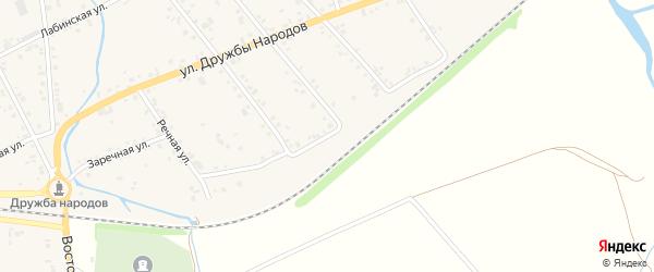 Железнодорожная улица на карте аула Кошехабль Адыгеи с номерами домов