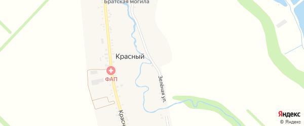Зеленая улица на карте Красного хутора Адыгеи с номерами домов
