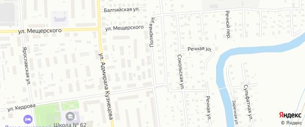 Полярная улица на карте Архангельска с номерами домов
