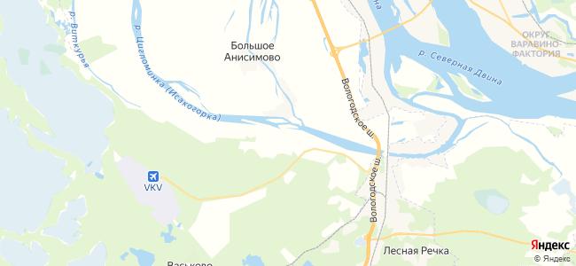 Средние Валдушки на карте